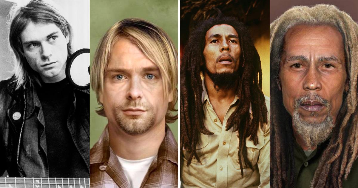 Фото Кобейн, Леннон и другие: как бы выглядели покойные звезды сейчас
