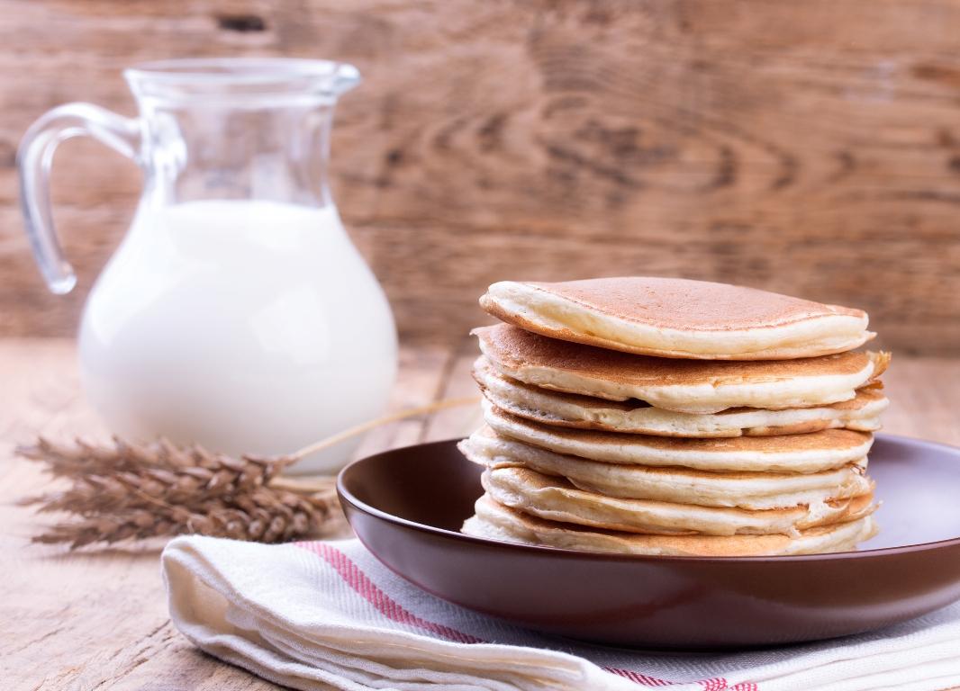 Аппетитные панкейки на молоке