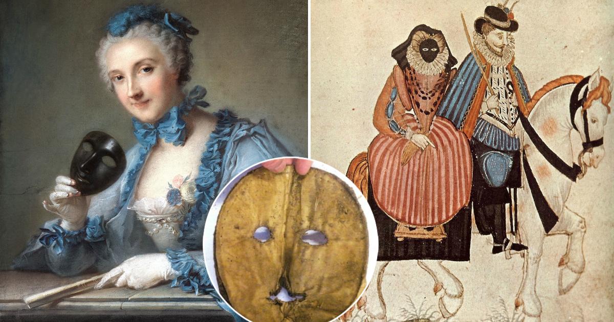 Почему в эпоху Возрождения женщины прятали лицо за страшными масками