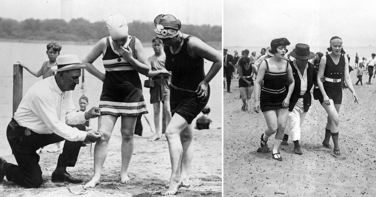 Полиция нравов: как в XX веке девушек арестовывали за ношение коротких купальников