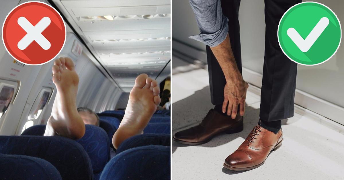 Фото Надень обратно! Почему в самолетах лучше не снимать обувь?