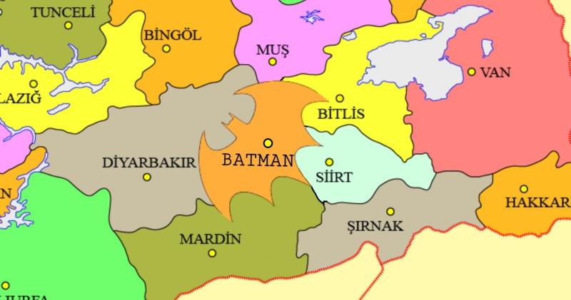 """Фото """"Может и название сменить на Готэм?"""": за изменение границ турецкого Батмана на логотип Бэтмена проголосовали 22 тысячи человек"""