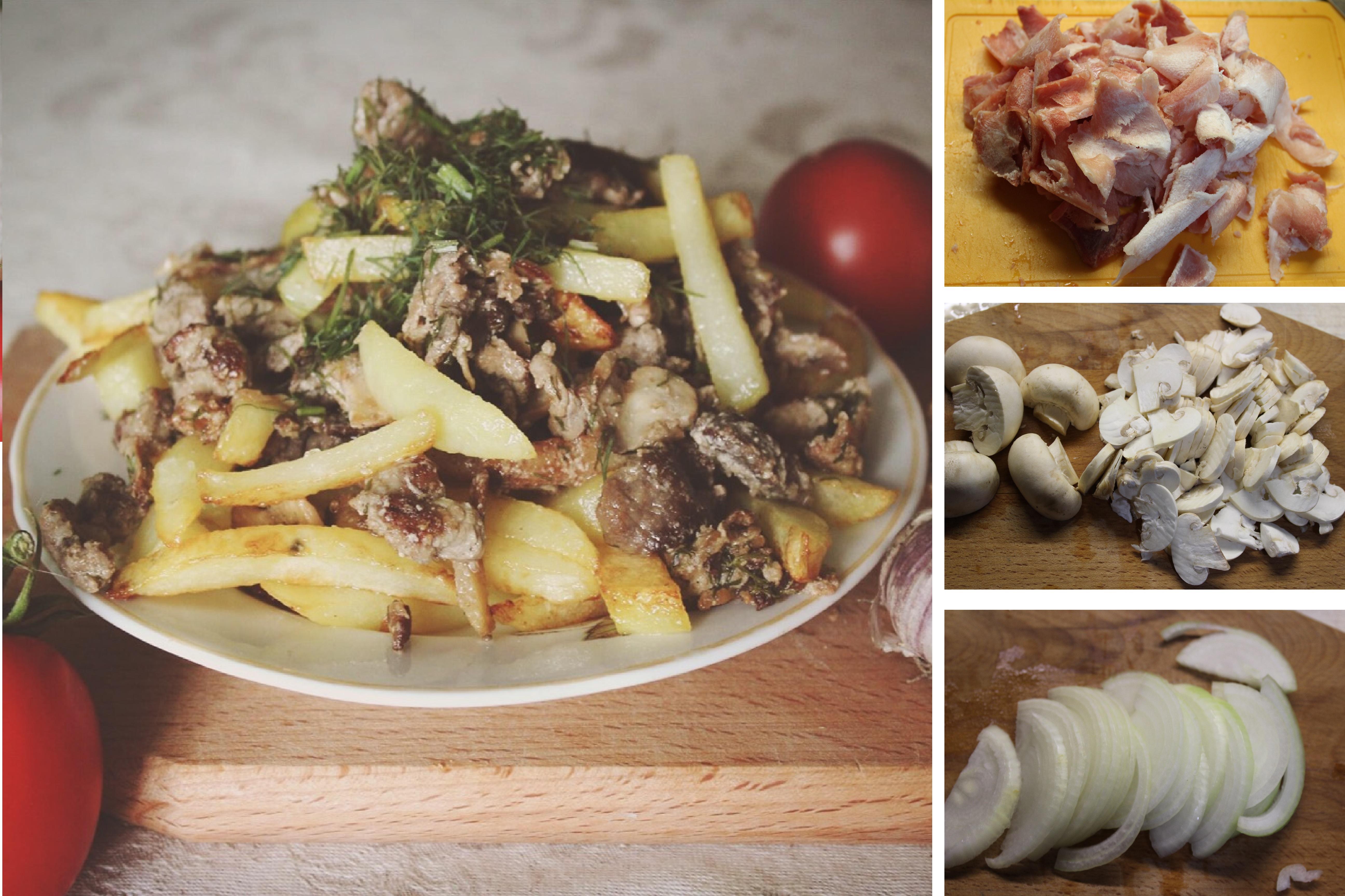 Скоблянка мясная с грибами по-русски: пошаговый фото рецепт