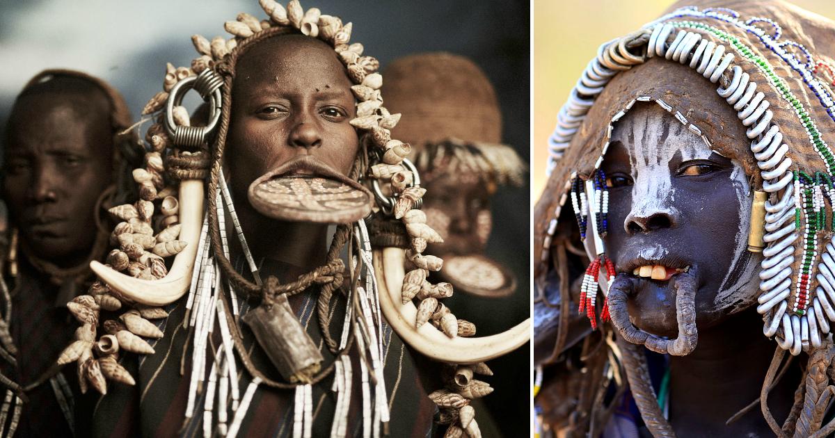 Фото Страшно красива: зачем девушки племени мурси добровольно уродуют себя