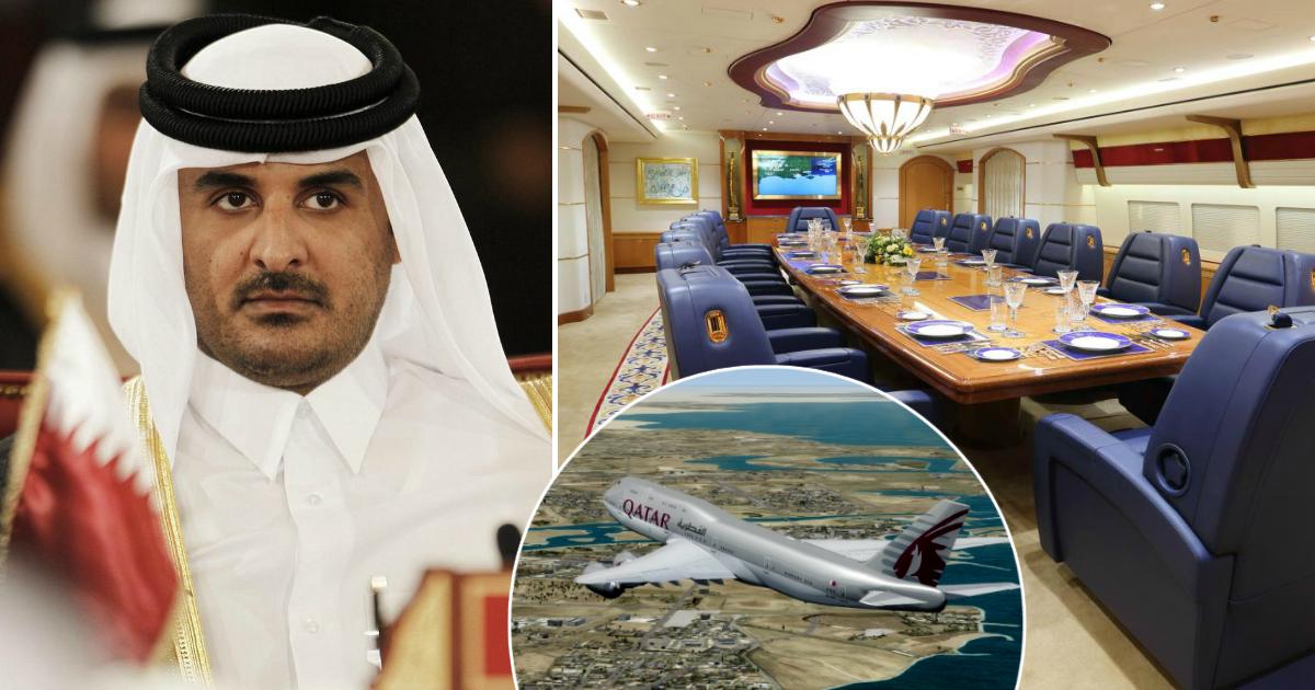 """Фото Роскошь на высоте: как выглядит """"золотой"""" авиалайнер эмира Катара"""
