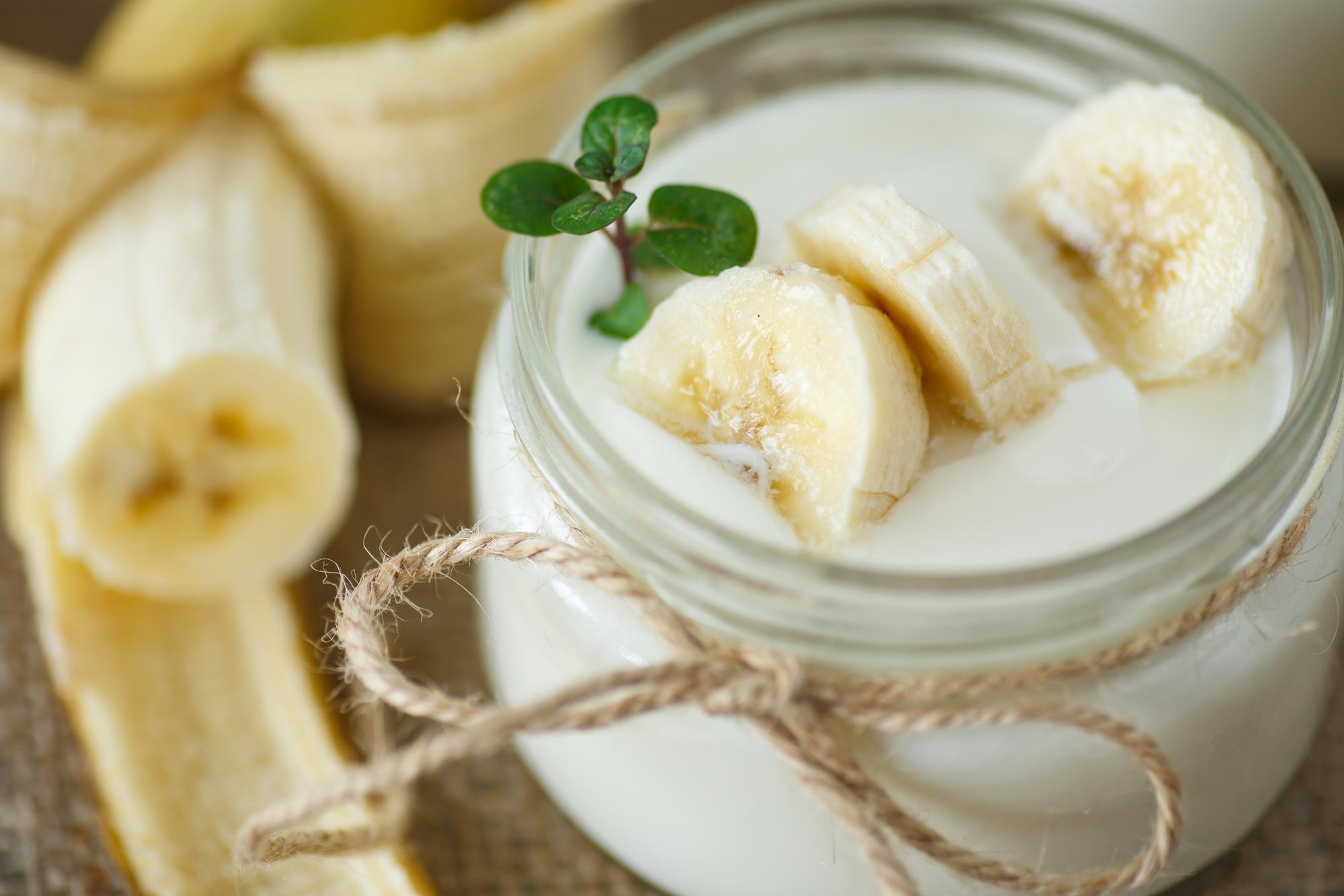 Нежный банановый йогурт