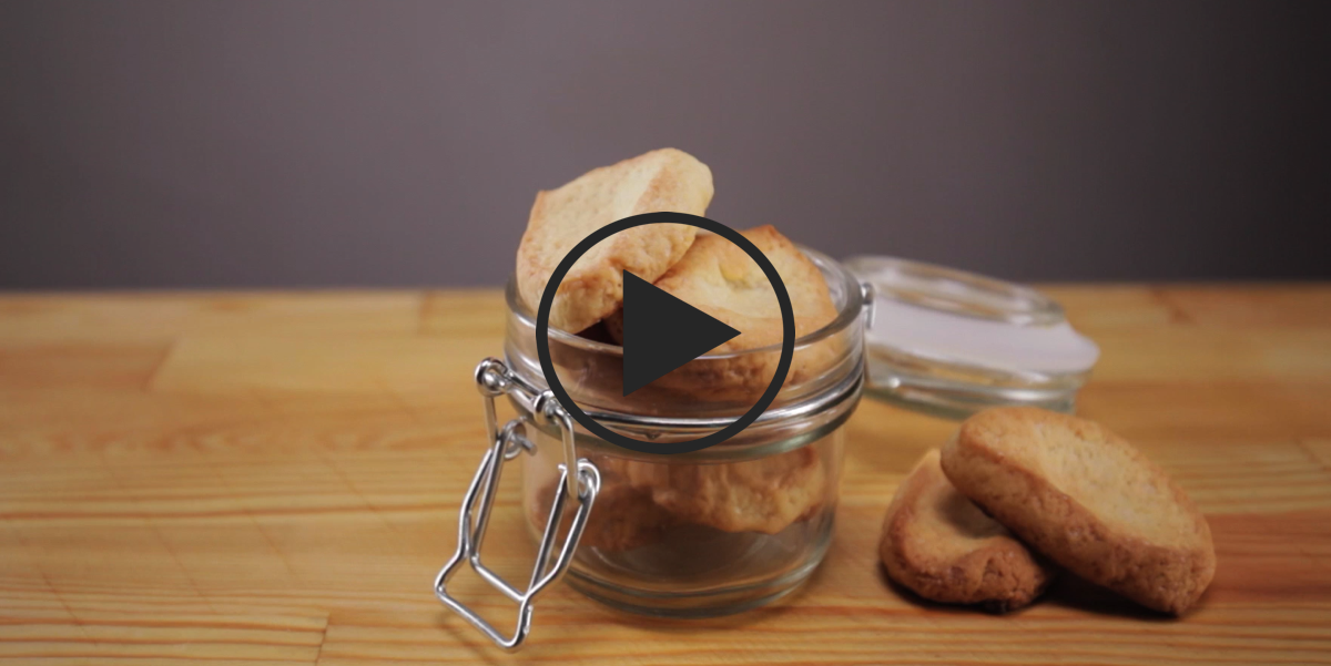 Печенье из 3-х ингредиентов: видео рецепт