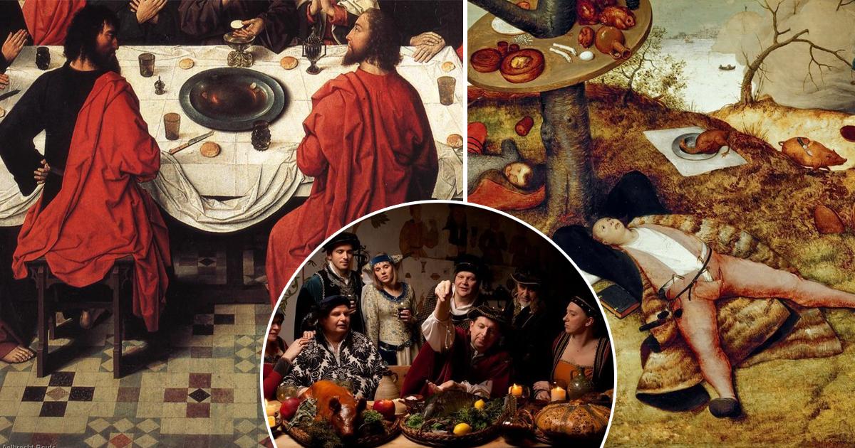 Скатерть вместо полотенца: как вели себя за столом в Средневековье