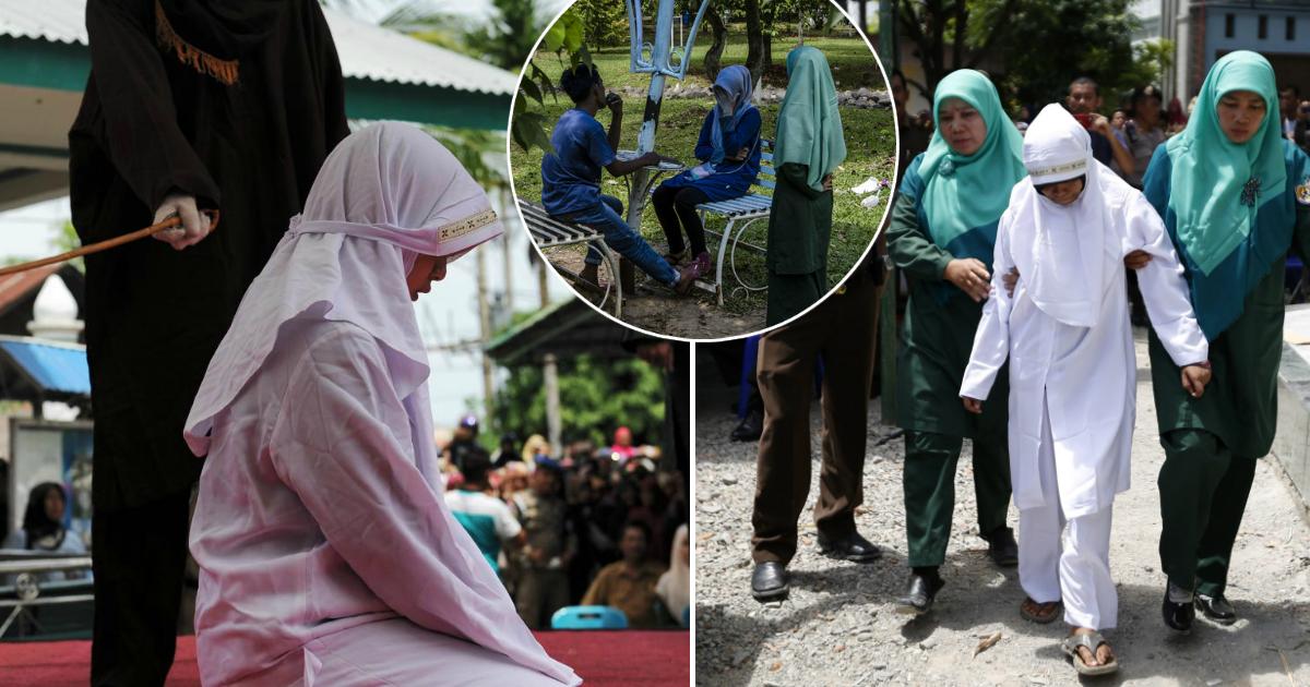 Фото Полиция нравов: как женщин в Индонезии бьют палкой за нарушение морали