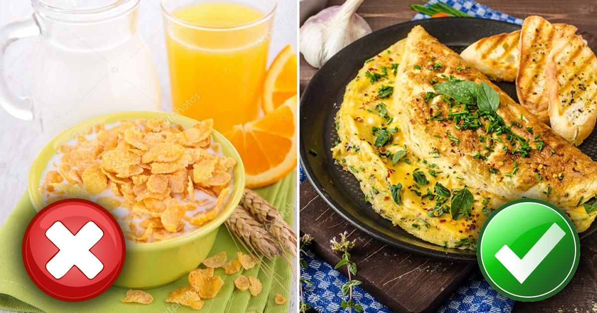 Продукты, которые категорически не стоит выбирать в качестве завтрака