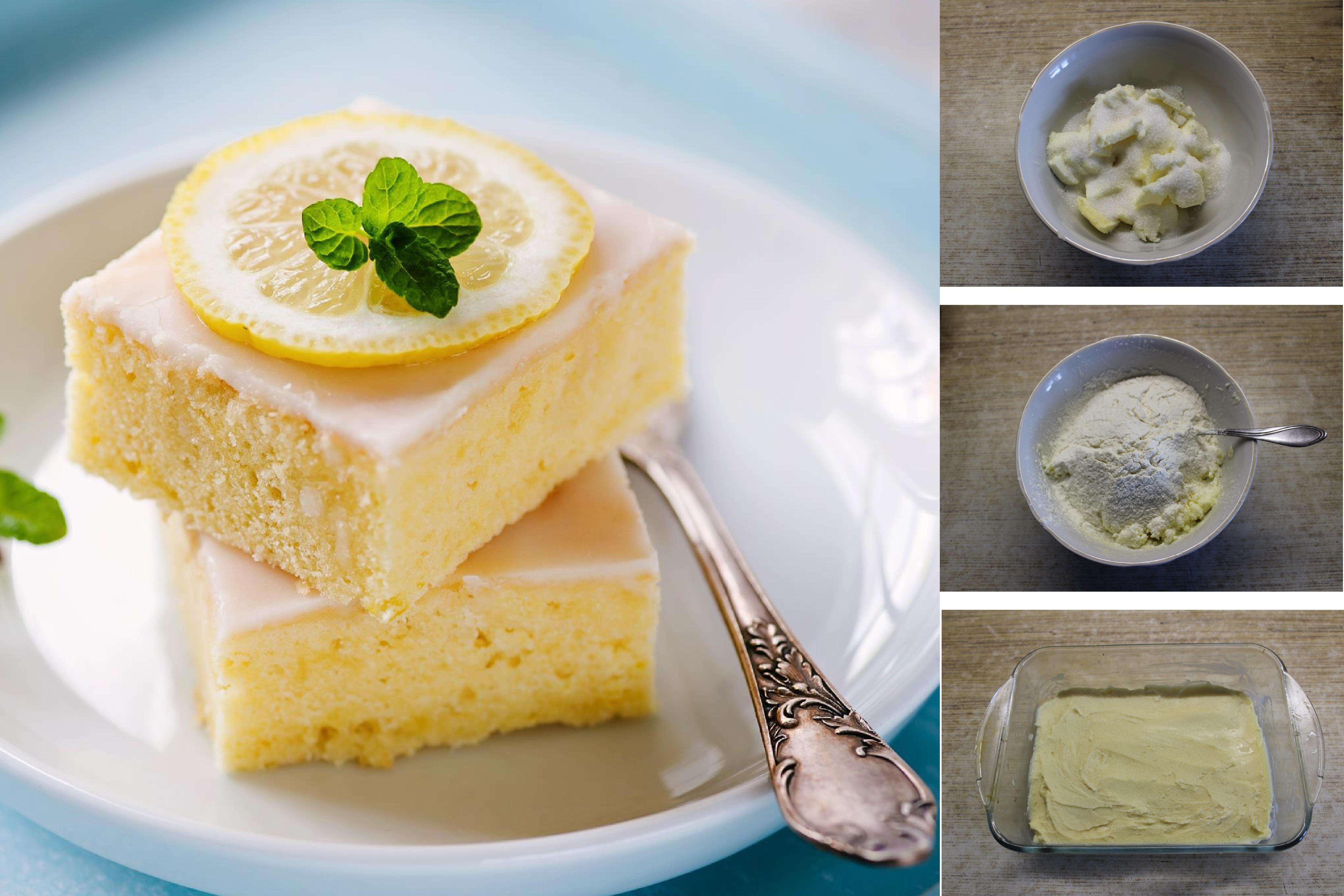 Лимонные квадратики: пошаговый фото рецепт