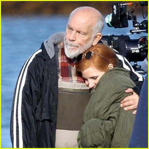 Photo of Jessica Chastain & John Malkovich Film 'Eve' in Gloucester!
