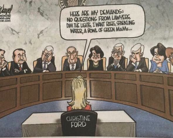 Photo of This Newspaper Ran a Wildly Offensive Cartoon of Kavanaugh's Accuser