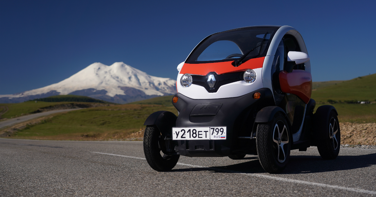 Электромобиль Renault Twizy попал в Книгу рекордов России