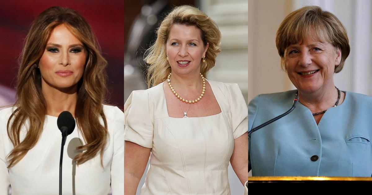 От Меркель до Медведевой. Модные провалы первых леди (30 ФОТО)