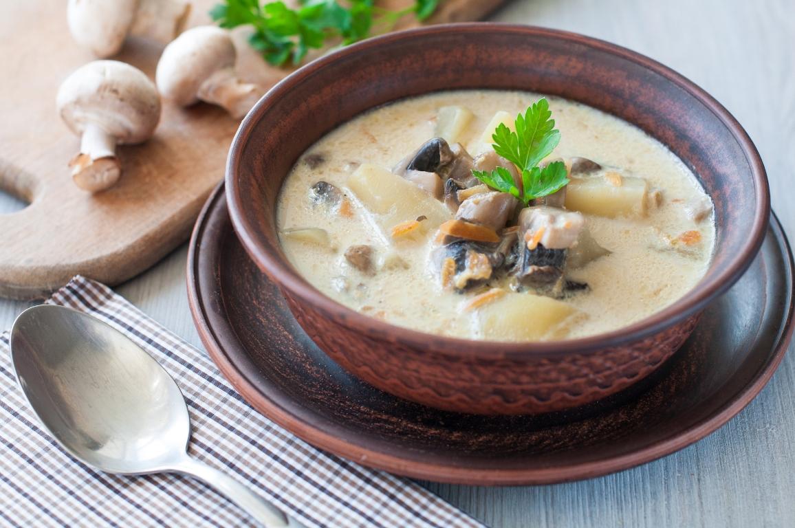 Ароматный сливочно-грибной суп