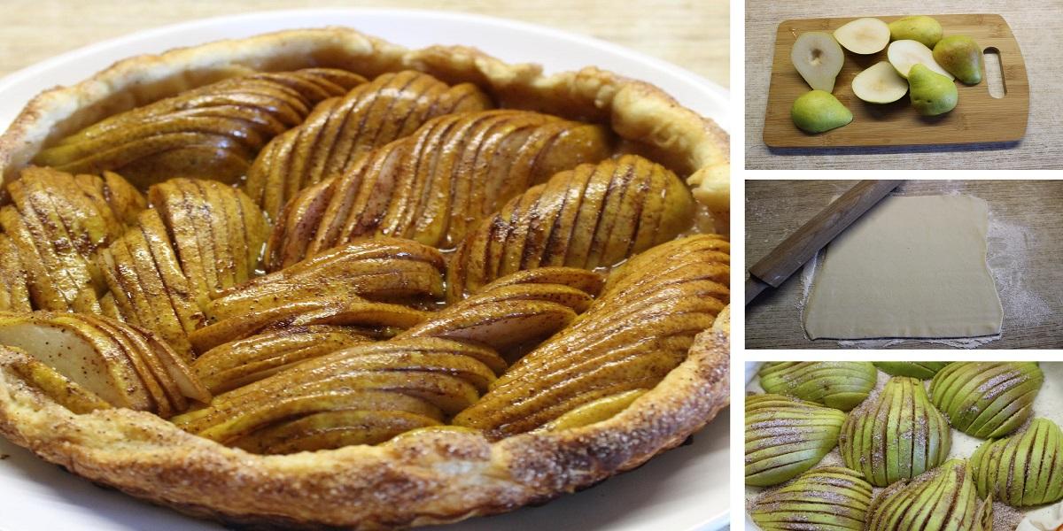 Открытый грушевый пирог со специями на скорую руку: пошаговый фото рецепт