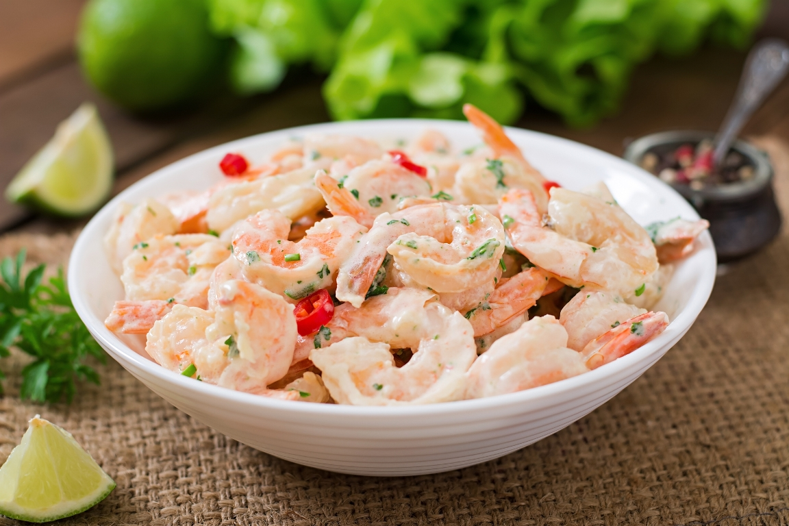 Вкуснейшие креветки под сливочно-чесночным соусом