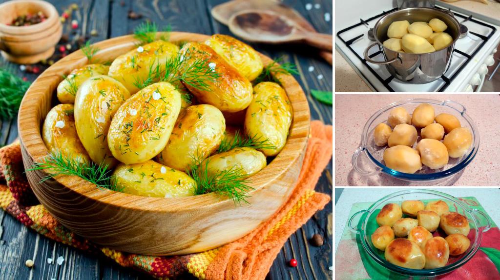 Запеченный картофель (секретная техника): пошаговый фото рецепт