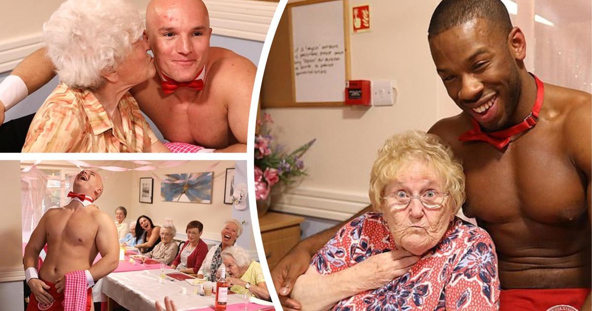 Британские стриптизеры навестили бабушек в доме престарелых