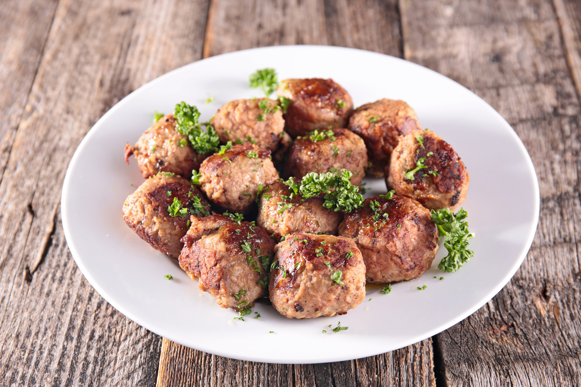 Фрикадельки из говядины обжаренные на сковороде