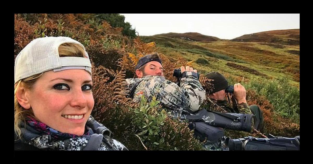 Фото Американская телеведущая подверглась критике, за фото с мертвыми животными