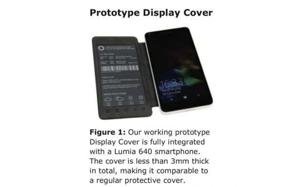Photo of Microsoft Research made an e-paper second screen phone cover