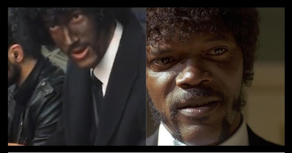 """Фото """"Почему нет?"""" Пассажир лондонского метро объяснил чернокожей, зачем выкрасил лицо"""