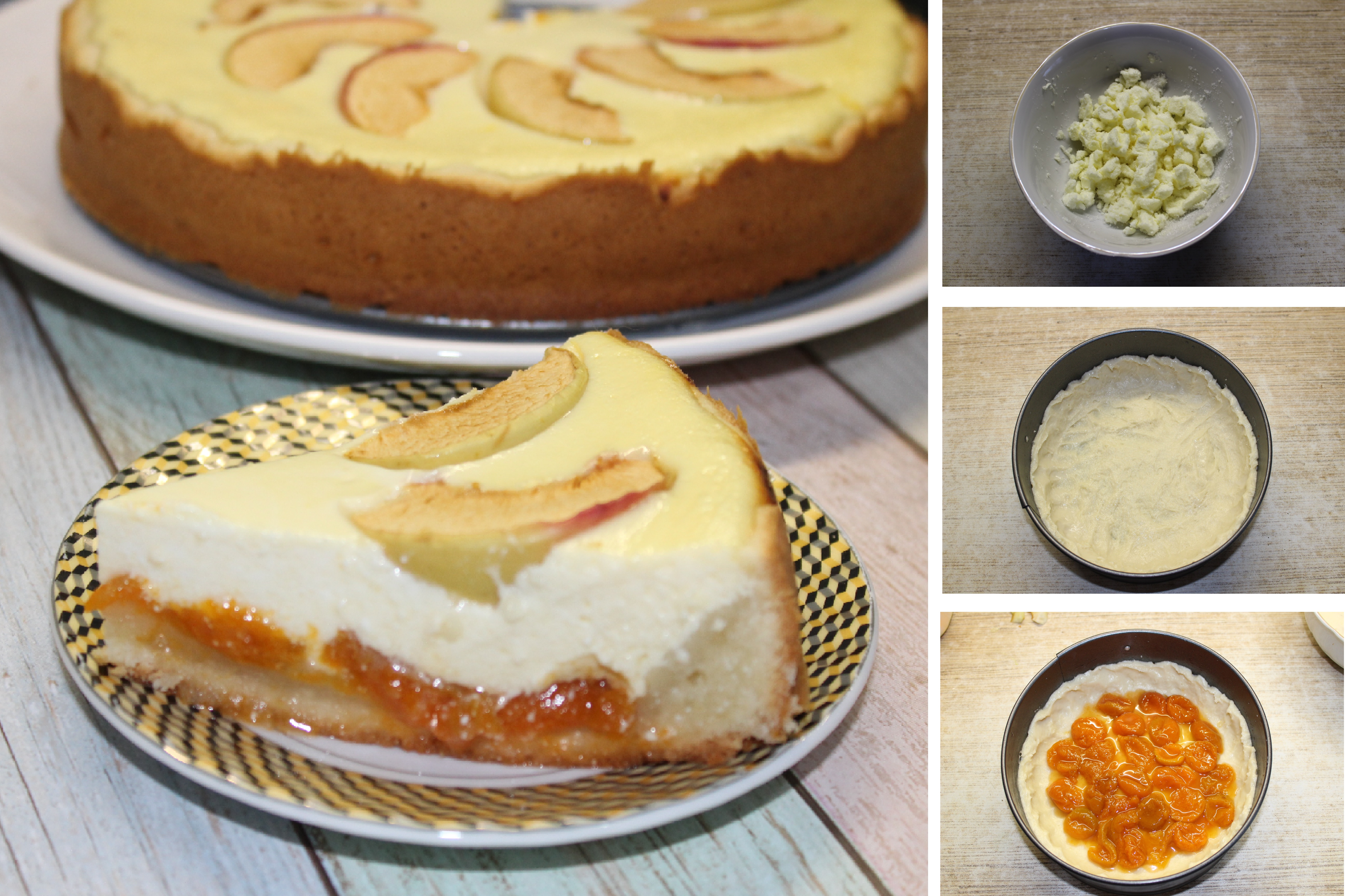 Творожный пирог с яблоками - серьезный конкурент цветаевскому: пошаговый фото рецепт