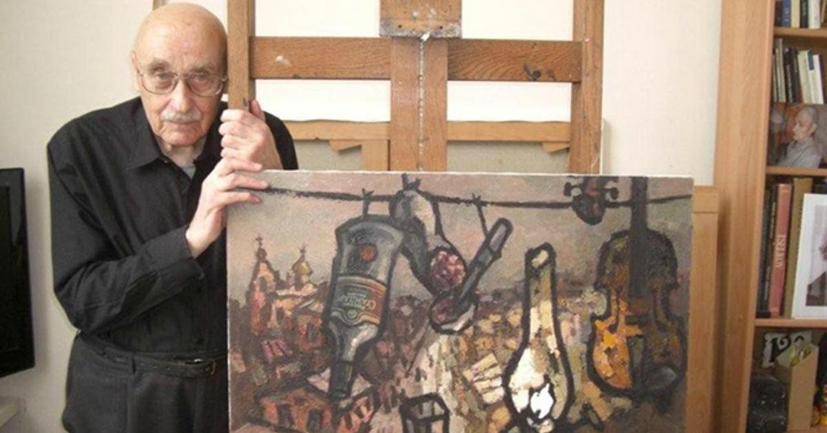 Фото Художник Оскар Рабин. Почему его картины раздавили бульдозером?