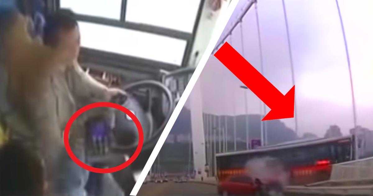 Нельзя мешать водителю! Автобус упал с моста из-за скандальной пассажирки