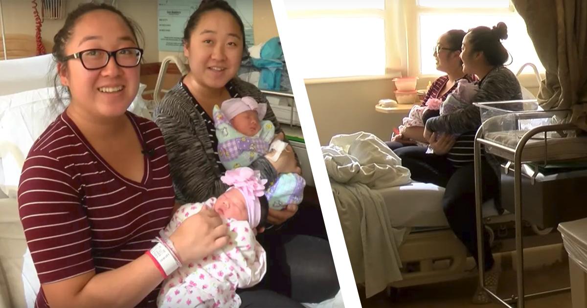 Фото Уложились в срок: близняшки родили дочек в одно и то же время