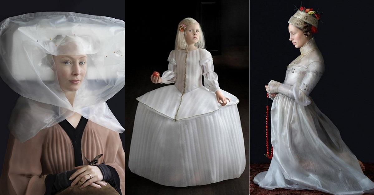 Фото В стиле эпохи Возрождения: как девушка создает костюмы из мусора