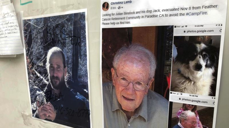 Photo of Missing in California Fire Include Many People in Their 80s and 90s
