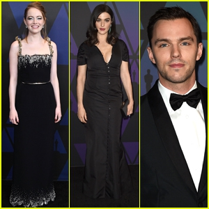 Photo of 'The Favourite' Co-Stars Emma Stone, Rachel Weisz & Nicholas Hoult Attend Governors Awards 2018