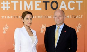 Hague hails 'tremendous start' to sexual violence scheme set up with Jolie