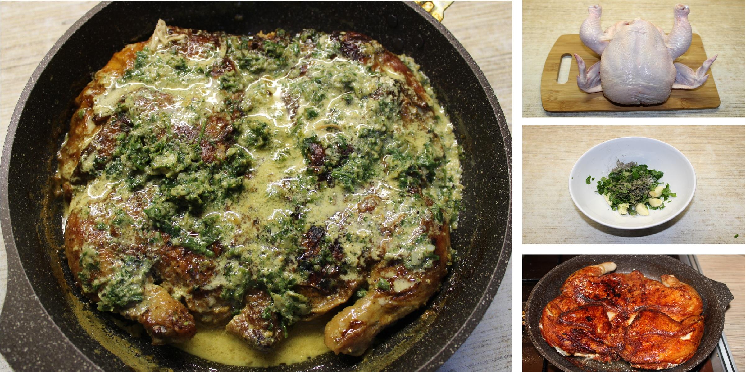 Цыпленок чкмерули - звезда грузинской кухни: пошаговые фото