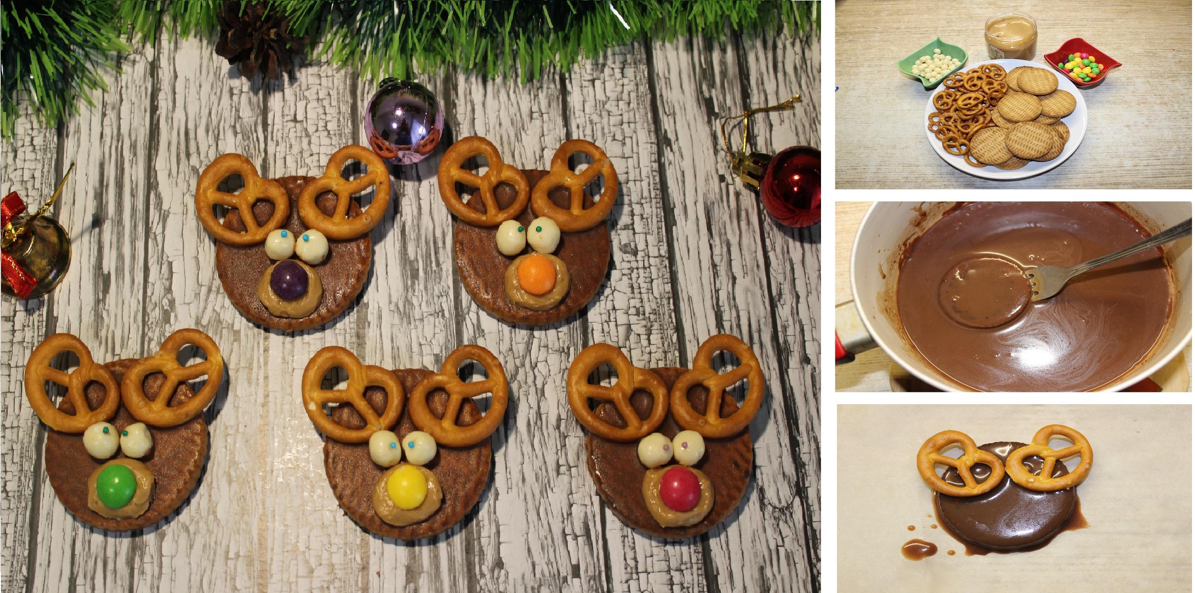 """Печенье """"Новогодние олени"""": пошаговые фото"""