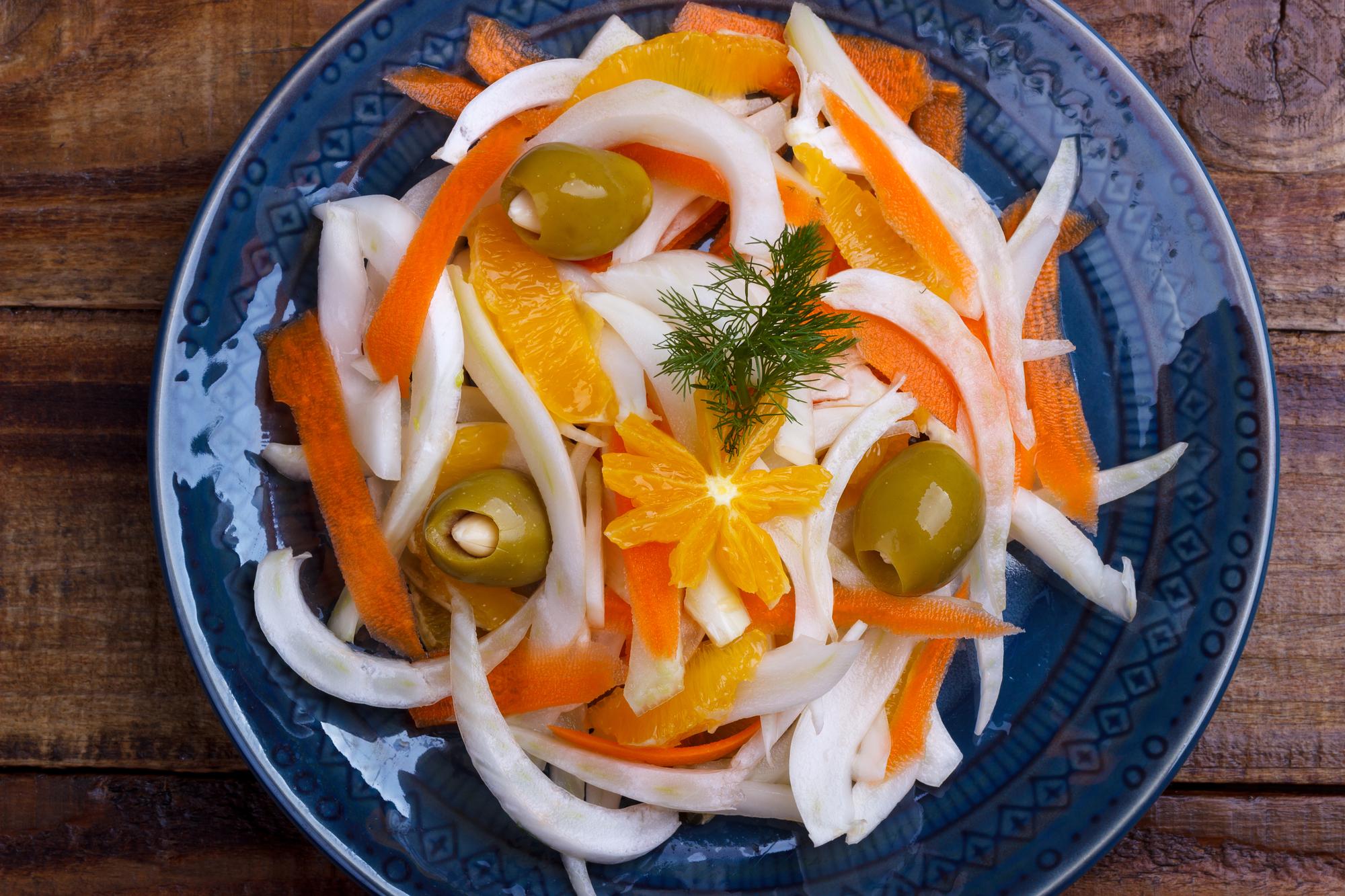 Салат из фенхеля и апельсинов