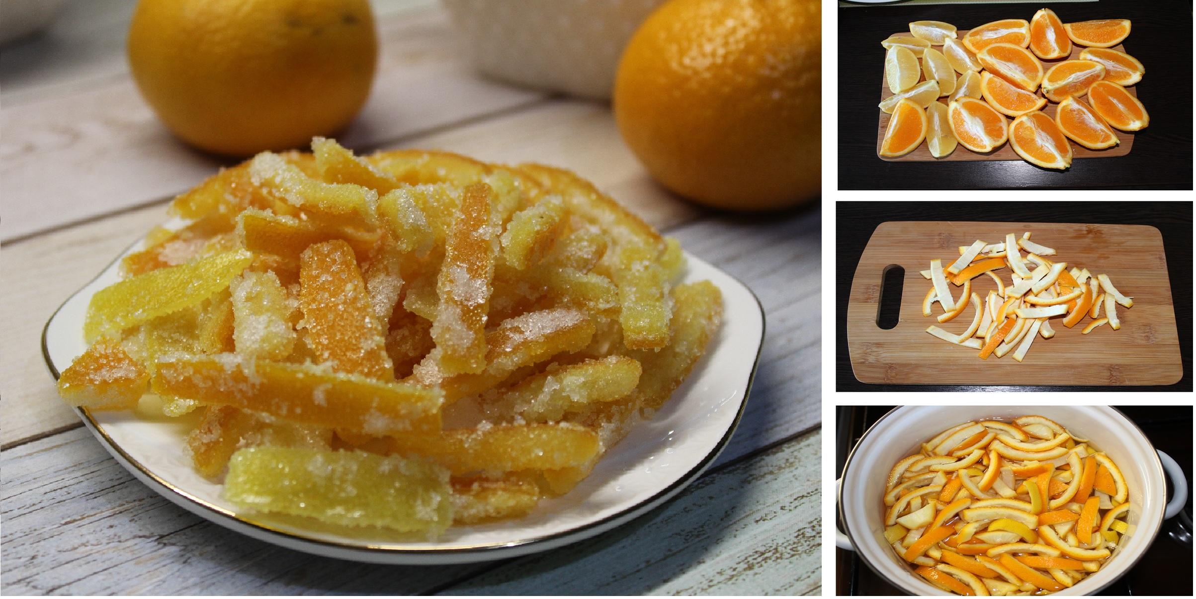 Домашние цукаты из лимонов и апельсинов: пошаговый фото рецепт