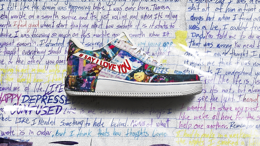 """Photo of The Shoe Surgeon Promotes Mental Health With """"Say I Love You"""" Air Force 1"""
