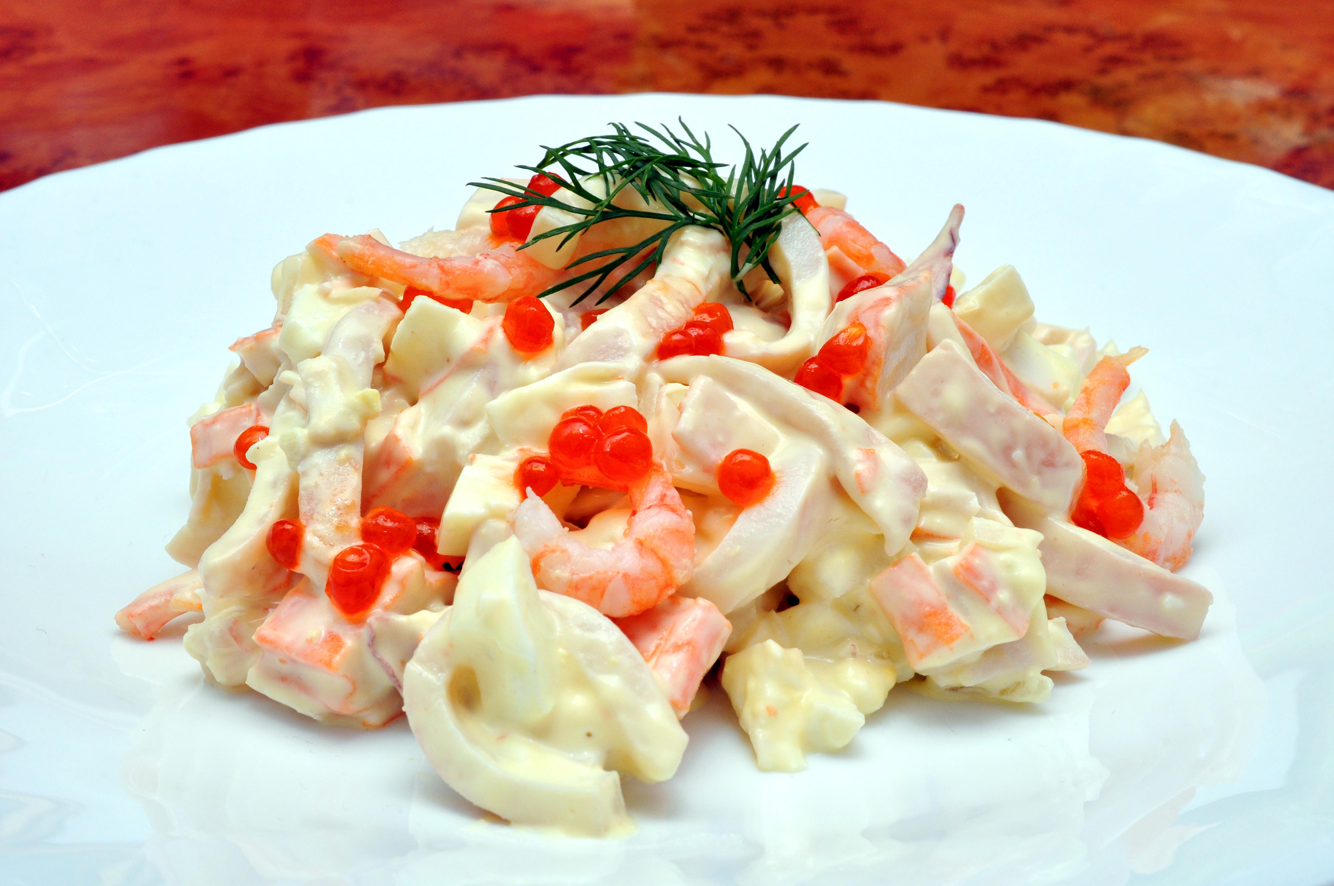 Салат «Королевский» из морепродуктов