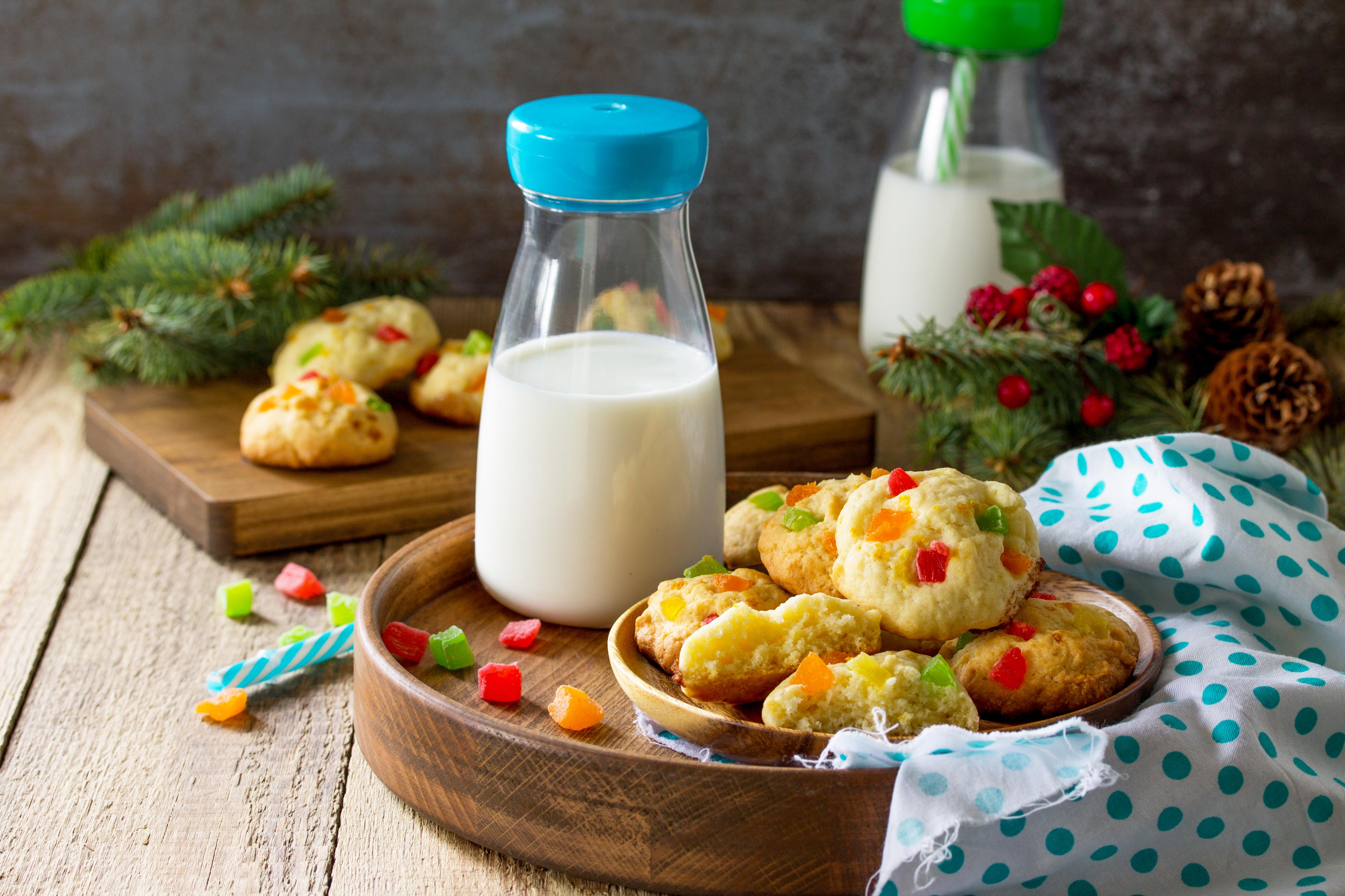 Рождественское творожное печенье с цукатами