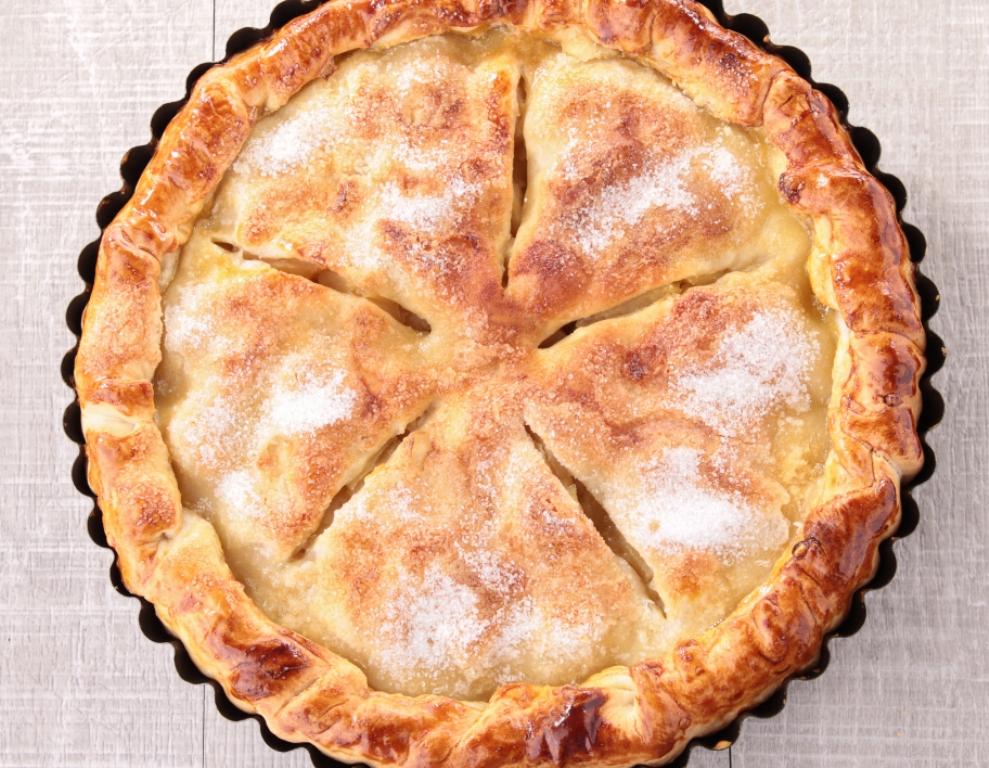Вкуснейший закрытый пирог с яблочной начинкой