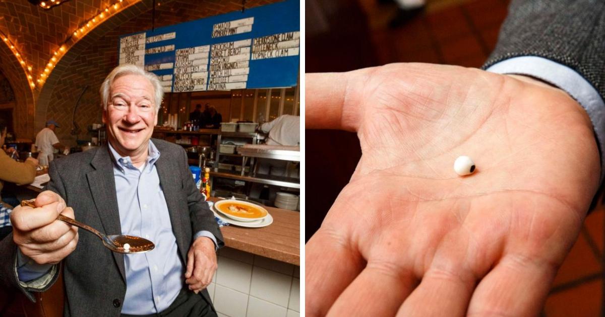 Фото Ловец жемчуга: мужчина нашел жемчужину размером с горошину, когда ел в ресторане