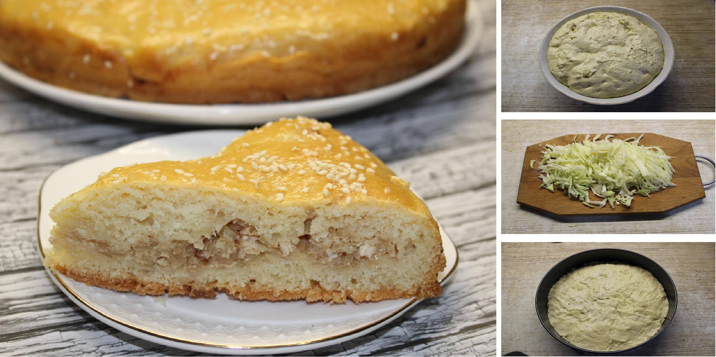 Бабушкин капустный пирог из дрожжевого теста: пошаговый фото рецепт