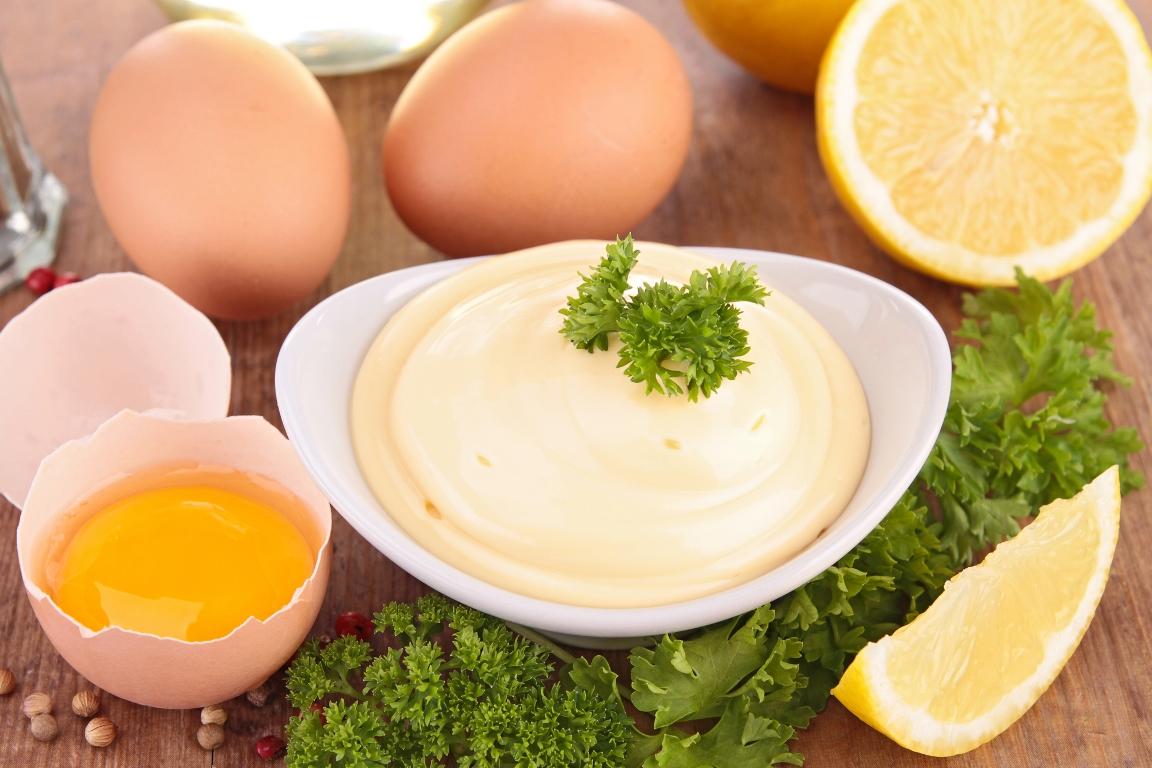 Домашний майонез с горчицей и лимонным соком