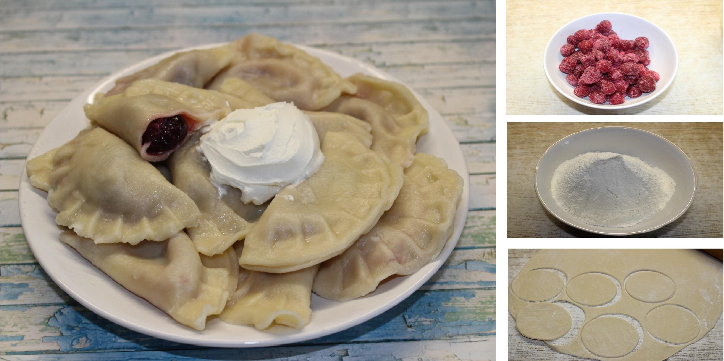 Домашние вареники с вишней и с черникой: пошаговый фото рецепт
