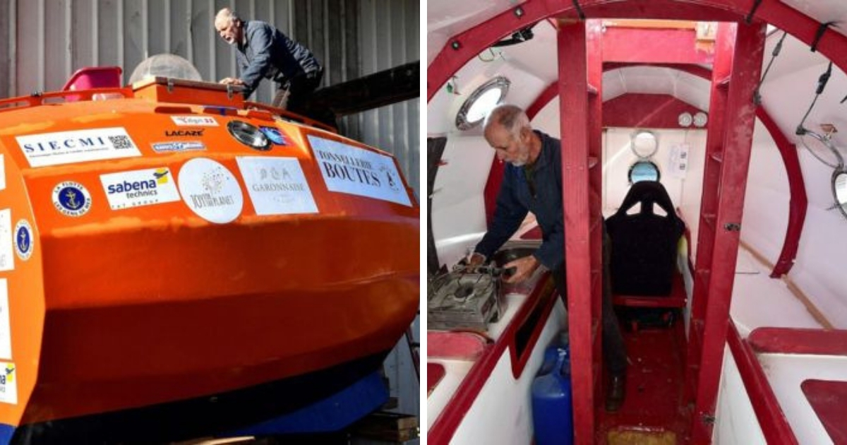 Фото В бочке через океан: 71-летний француз пересекает Атлантику в капсуле из фанеры