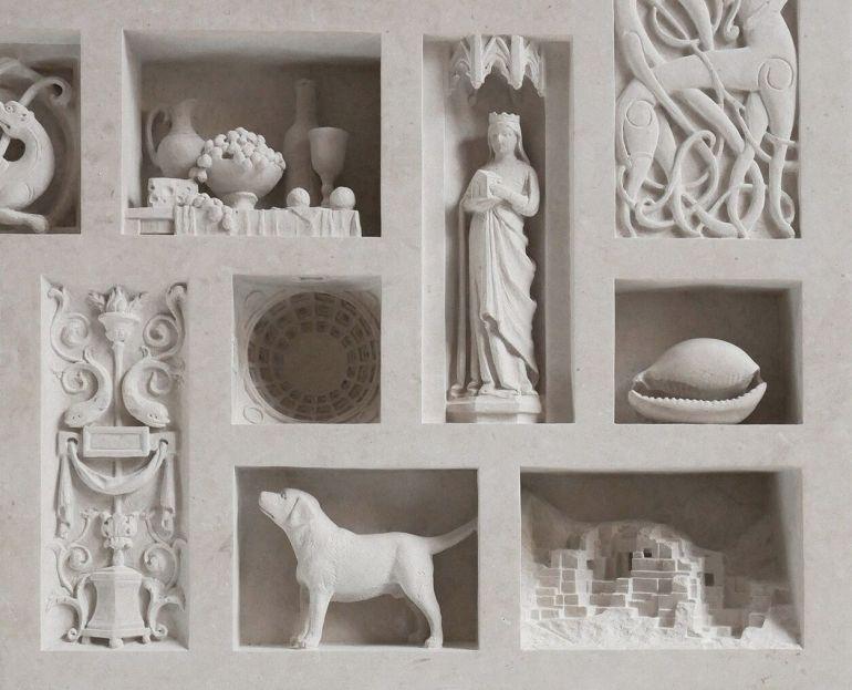 Photo of Matthew Simmonds Antique Carved Sculptures